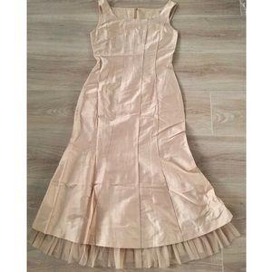Dresses & Skirts - Size XXS beige silk cocktail dress